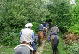 Trekking a cavallo / Trekking s konji / Trekking on horses / Pferdetrekking